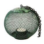 Grehom Tea Light Holder - Cage (Algae Green); Indoor Metal Lantern