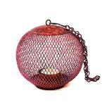 Grehom Tea Light Holder - Cage (Patina Red); Indoor Metal Lantern