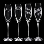 Grehom Crystal Champagne Glasses - Set of 4