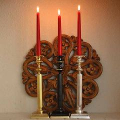 Grehom Brass Candlestick - Fountain; 28 cm Candle Holder