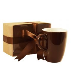 Grehom Porcelain Latte Mug - Chocolate; 280 ml; Gift Boxed