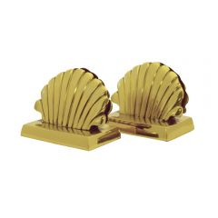 Grehom Place Card Holder (Set of 4) - Sea Shell; Golden