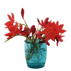 Grehom Recycled Glass Vase Blue- Authentic