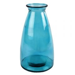 Grehom Recycled Glass Vase Tall - Sea Blue
