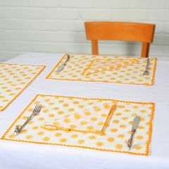 Grehom Placemats (Set of 2) - Sun; Cotton Tablemats