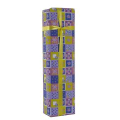Grehom Gift Wrapping Paper - Blue & Yellow Squares