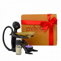 Grehom Oil Burner Gift Boxed Set - Monkey