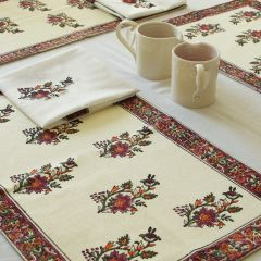 Grehom Placemats (Set of 2) - Terracotta Flower Bouquet