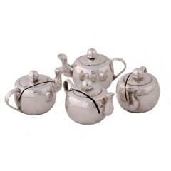 Grehom Place Card Holder (Set of 4) - Silver Teapot
