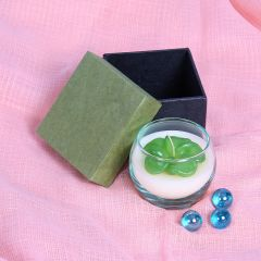 Grehom Candle - Blue Frangipani in Recycled Glass; Gift Boxed