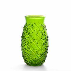 Grehom Recycled Glass Vase - Pineapple (Dark Green); 17 cm Vase