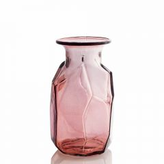 Grehom Recycled Glass Vase - Origami (Blush); 16 cm Vase