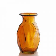 Grehom Recycled Glass Vase - Origami (Orange); 16 cm Vase
