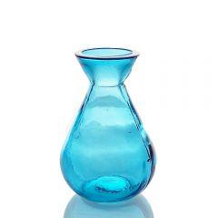 Grehom Recycled Glass Bud Vase - Classic (Aqua Blue);10 cm Vase