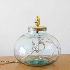 Grehom Table Lamp Base; 29 cm Recycled Glass Table Lamp Base