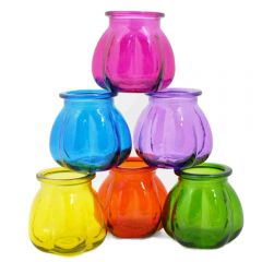 Grehom Recycled Glass Vases- Pumpkin (Motley); 11 cm Vases; Saver Set