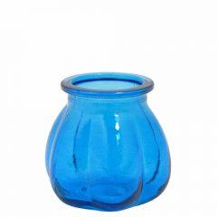 Grehom Recycled Glass Vase- Pumpkin (Blue); 11 cm Vase