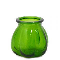 Grehom Recycled Glass Vase- Pumpkin (Green); 11 cm Vase