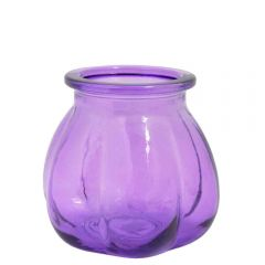Grehom Recycled Glass Vase- Pumpkin (Lilac); 11 cm Vase