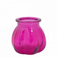 Grehom Recycled Glass Vase- Pumpkin (Magenta); 11 cm Vase