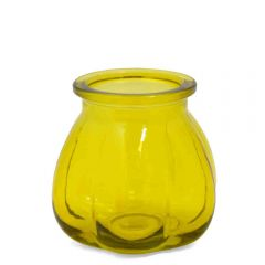 Grehom Recycled Glass Vase- Pumpkin (Yellow); 11 cm Vase
