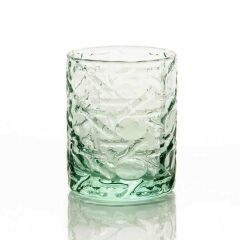 Grehom Recycled Glass Tumbler- Lattice (500ml); Double Old-Fashioned Glass
