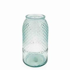 Grehom Recycled Glass Vase - Diamond (27 cm) - Natural