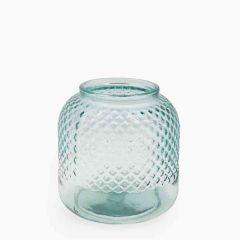 Grehom Recycled Glass Vase - Diamond; 18 cm Flower Vase