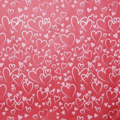 Grehom Gift Wrapping Paper - Red Heart