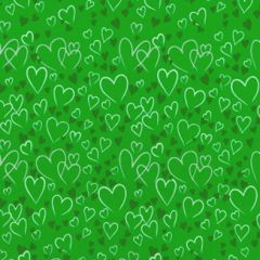 Grehom Gift Wrapping Paper - Green Hearts