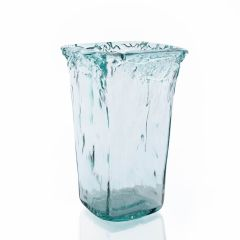 Grehom Recycled Glass Vase - Frosted Tapered